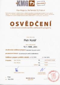 Certifikovaný instruktor Krav Maga Petr Kolář